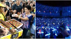 A apresentação era do Coldplay, mas quem deu show foi o público - de