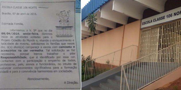 Diretora de escola em Brasília recebe ameaças após pedir que alunos usem roupa vermelha para combater...