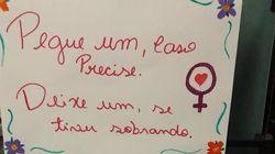 Sororidade no banheiro feminino: Universitárias compartilham caixinhas com