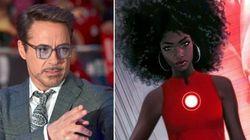 Até o Robert Downey Jr. achou massa a 'Homem de Ferro negra' da