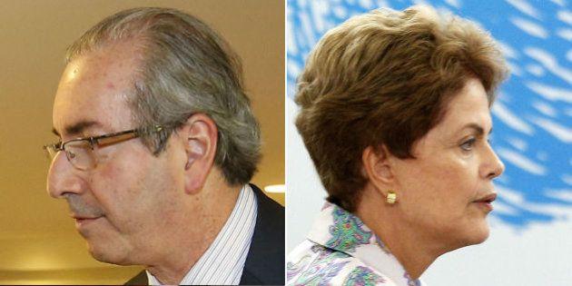 Cunha e Dilma na corda bamba: Quem cai