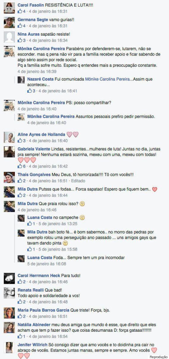 Casal lésbico denuncia agressões homofóbicas durante o Ano Novo em Florianópolis