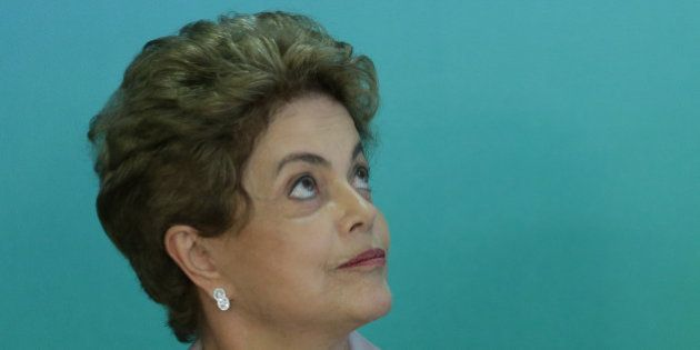 Brazil's President Dilma Rousseff attends a meeting with Brazilian artists and intellectuals who support...