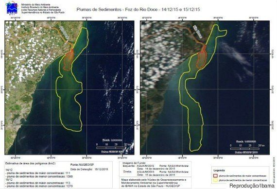 Lama de barragem da Samarco avança no Oceano Atlântico e ameaça vida marinha no arquipélago de Abrolhos