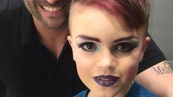 Lindo! Menino de 8 anos realiza sonho de aprender a se maquiar como uma drag