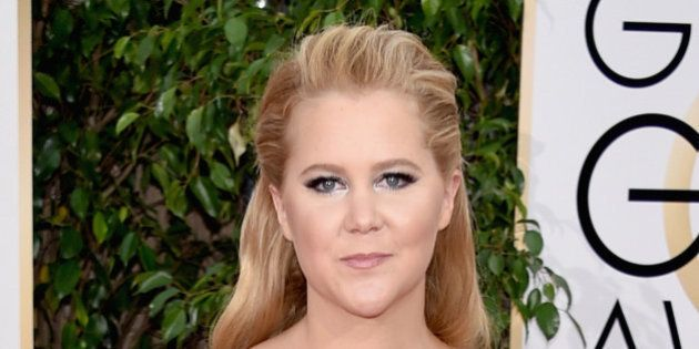 BEVERLY HILLS, CA - JANUARY 10: Actress Amy Schumer attends the 73rd Annual Golden Globe Awards held...