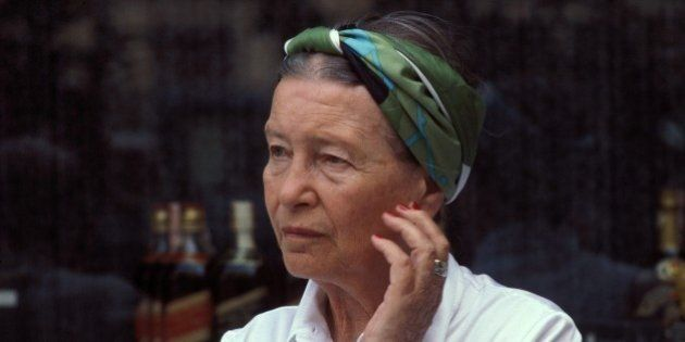 ITALY - SEPTEMBER 01: Simone de Beauvoir in Rome, Italy in September, 1978. (Photo by Francois LOCHON/Gamma-Rapho...