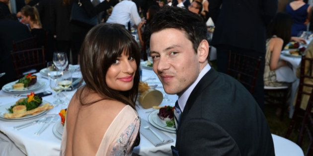 LOS ANGELES, CA - JUNE 09: Actors Lea Michele and Cory Monteith inside the 11th Annual Chrysalis Butterfly...