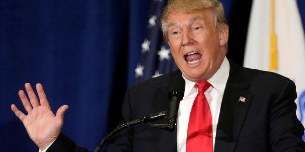 Presumptive Republican presidential nominee Donald Trump delivers a speech in Virginia Beach, Virginia...