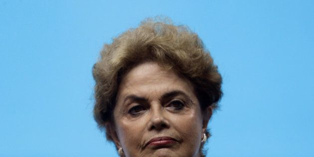 Brazil's President Dilma Rousseff attends an inauguration ceremony of the Olympic aquatic venue at the...
