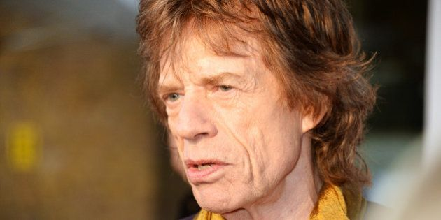 LONDON, ENGLAND - APRIL 04: Sir Mick Jagger attends a private view of 'The Rolling Stones: Exhibitionism'...