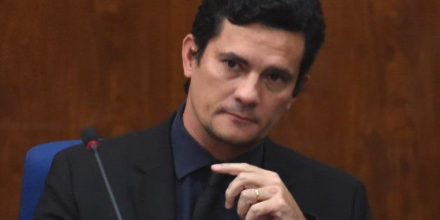Brazilian Federal Judge Sergio Moro takes part in a joint lecture about Brazil's 'Lava Jato' and Italy's...