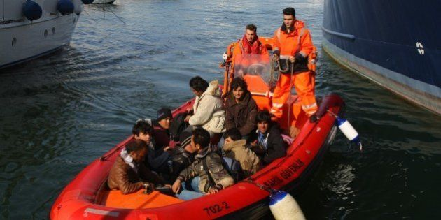 IZMIR, TURKEY - APRIL 1: Turkish Coast Guards refugees captured by Turkish coast guard in the Aegean...