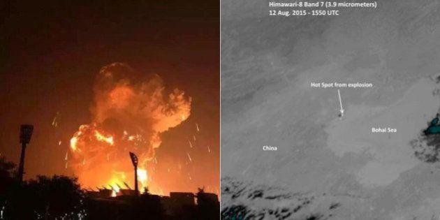 Explosão em Tianjin, na China, pôde ser vista do