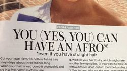 Esta revista quis ensinar mulheres brancas a fazer penteado afro. E não deu muito