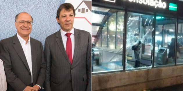 Unidas no aumento da tarifa, gestões Haddad e Alckmin se distanciam após violência em atos do MPL em