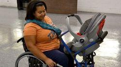 Estudante cria carrinho de bebê para uma mãe