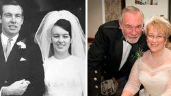 Eles se casaram novamente 23 anos após assinarem o