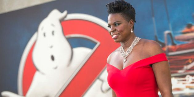 Actress Leslie Jones attends the Los Angeles Premiere of 'Ghostbusters' in Hollywood, California, on...