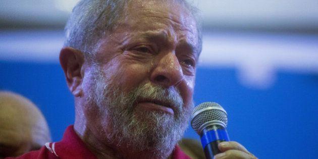 SAO PAULO, BRAZIL - MARCH 4: Former President of Brazil, Luiz Inacio Lula da Silva, during a during rally...