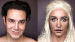 Ele se transformou em personagens de GoT usando só maquiagem e o resultado é