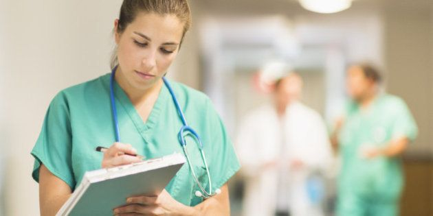 USA, New Jersey, Jersey City, Female doctor in hospital