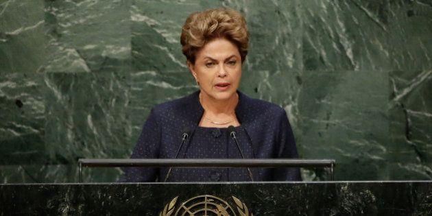 President Dilma Rousseff, of Brazil, addresses the 2015 Sustainable Development Summit, Sunday, Sept....