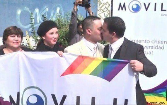 Felizes para sempre! Sargento é o primeiro policial chileno gay a realizar união civil com