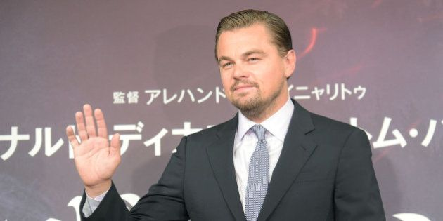 TOKYO, JAPAN - MARCH 23: Leonardo DiCaprio attends the press conference for 'The Revenant' at the Ritz...
