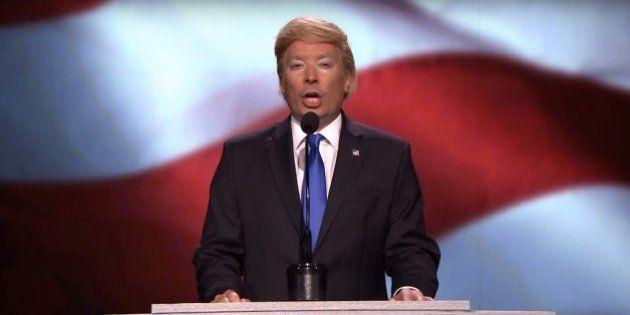 Jimmy Fallon faz a melhor paródia do último discurso de Trump e alfineta acusação de plágio de