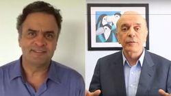 VÍDEO: José Serra e Aécio Neves chamam a população para ir às ruas neste