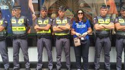 ASSISTA: 'Não vai ter CUT aqui não', exalta manifestante, aos sorrisos dos