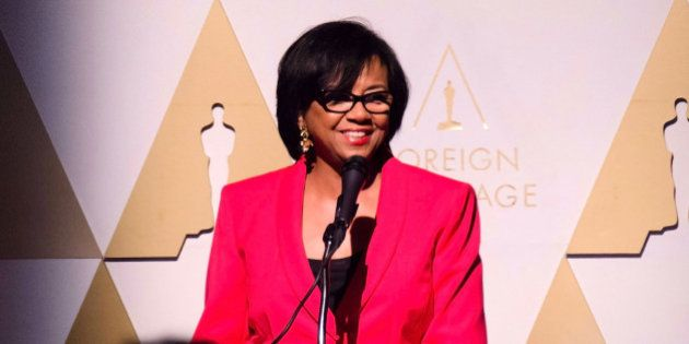 Cheryl Boone Isaacs attends 87th Academy Awards - Foreign Language Nominees Certificate of Nomination...
