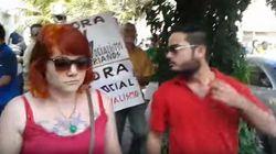 Críticos dos protestos denunciam que foram agredidos durante