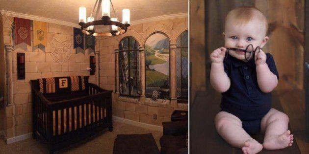 Casal passa meses montando quarto inspirado em Harry Potter para bebê e o resultado é