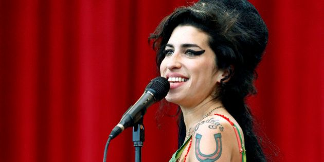 British pop singer Amy Winehouse performs during the Glastonbury music festival in Somerset, south-west...