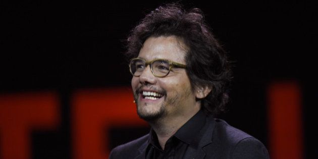 Actor Wagner Moura smiles during an event at the 2016 Consumer Electronics Show (CES) in Las Vegas, Nevada,...