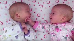 ASSISTA: Gêmeas idênticas, bebês 'conversam' pela primeira