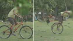 ASSISTA: Ladrões caem em pegadinha de bicicleta amarrada no Rio de