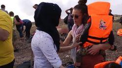 Ela largou tudo para ajudar refugiados e narra sua rotina em vídeo