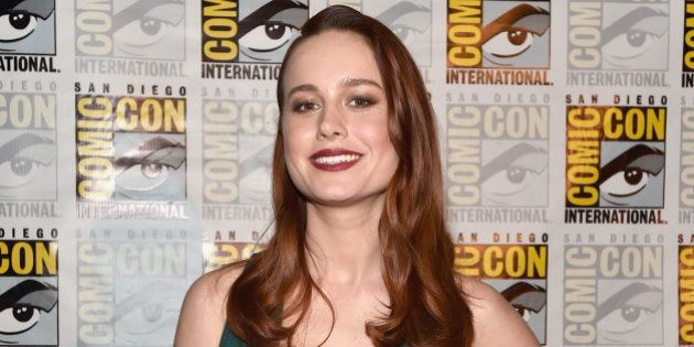 SAN DIEGO, CA - JULY 23: Actress Brie Larson announced as Captain Marvel/Carol Danvers attends the San...