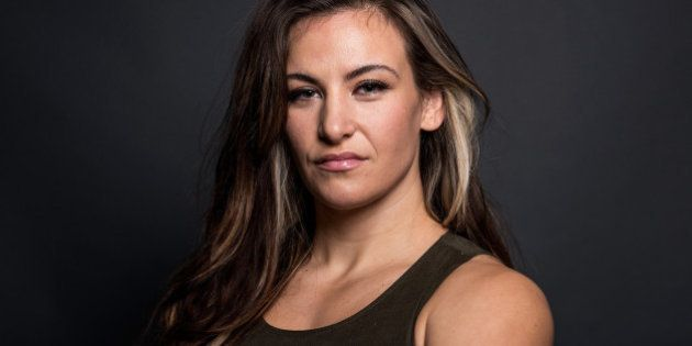LAS VEGAS, NV - JANUARY 20: Miesha Tate poses for a portrait backstage during the UFC 197 on-sale press...