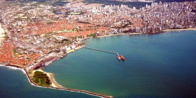 Aerial view of Fortaleza city, Ceara,