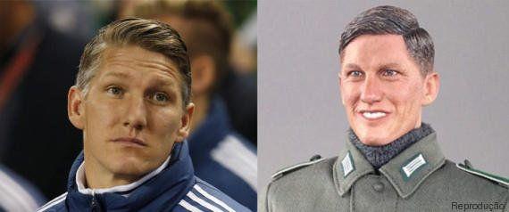 Schweinsteiger, craque alemão presente no 7x1, 'inspira' boneco nazista produzido na