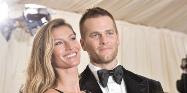 Gisele Bndchen and Tom Brady attend the 'Charles James: Beyond Fashion' Costume Institute Gala at the...