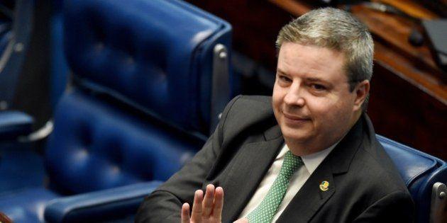 Brazilian senator Antonio Anastasia, of the PSDB opposition party, attends a senate's session to form...