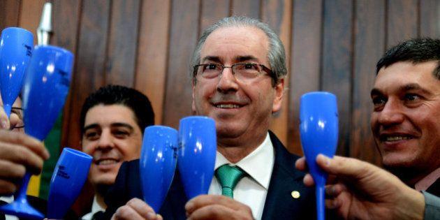 Brasília - O presidente da Câmara dos Deputados, Eduardo Cunha, durante lançamento da Frente Parlamentar...