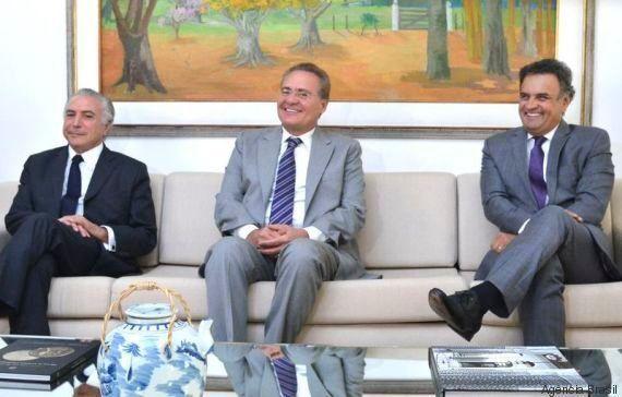 Vem, PSDB! Em reunião com Aécio Neves, Michel Temer já fala em fim da