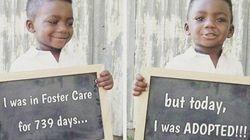 O sorriso de felicidade destas crianças recém-adotadas vai derreter seu