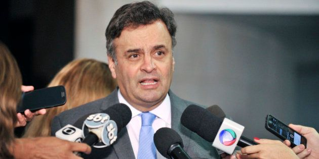 Senador Aécio Neves (PSDB-MG) concede entrevista.Foto: Waldemir Barreto/Agência